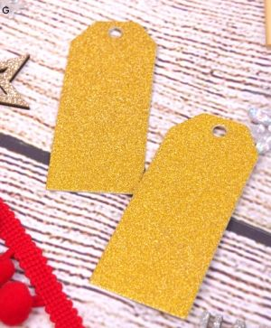 Christmas Glitter Tags 24 pcs - Gold SCTOP034X19