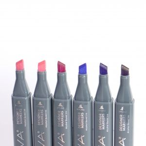 Sketch Markers 6pcs - Purples/ Pinks NOV006