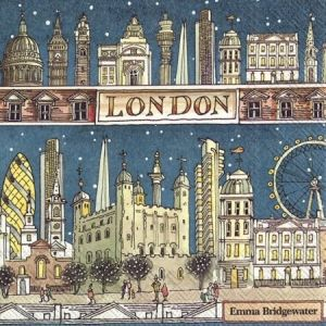Decoupage napkins 33x33cm, 20 pcs. - LONDON AT NIGHT L819300