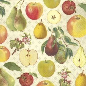 Decoupage napkins 33x33cm, 20 pcs. - APPLE AND PEAR L804560