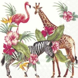 Decoupage napkins 33x33cm, 20 pcs. - SAFARI PARK L813600