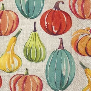 Decoupage napkins 33x33cm, 20 pcs. - PUMPKIN TIME L794700