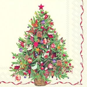 Decoupage napkins 33x33cm, 20 pcs. - CHRISTMAS TREE L705800