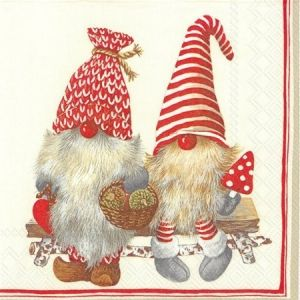 Decoupage napkins 33x33cm, 20 pcs. - FRIENDLY TOMTE L743010