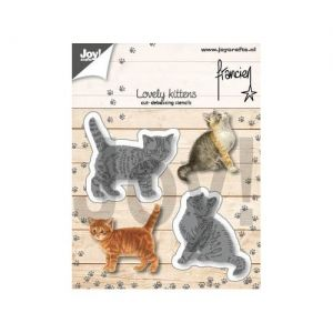 Cutting, embossing  stencil - Two kittens 6002-1362