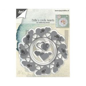 Cutting, embossing  stencil - Bille's Circlehearts 6002-1313