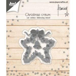 Cutting, embossing  stencil - Franciens Christmascrown 6002-1139