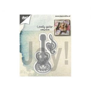 Cutting, embossing  stencil - Lovely guitar 6002-1348