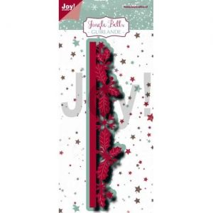 Cutting, embossing  stencil - Jingle Bells - Border-guirlande 6002-1230