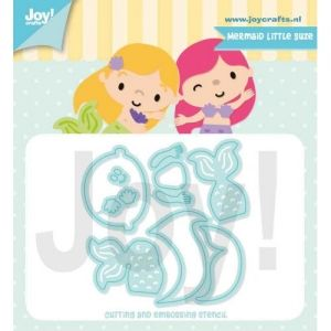 Cutting, embossing  stencil - Mermaid Little Suze 6002-1415