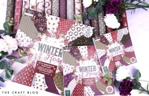 "First edition 6""x6"" Paper Pad - Winter rose FEPAD220X19"