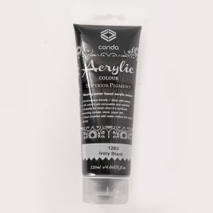 Acrylic paint 120ml - ivory black A1283-1