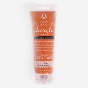 Acrylic paint 120ml - burnt sienna A1268