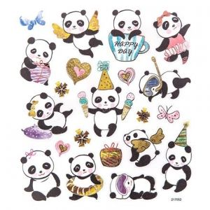 Stickers 21 pcs - Pandas DPNK-101