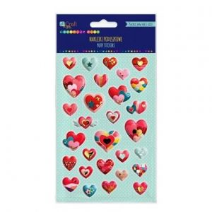 3D Stickers 29 pcs - Hearts DPNP-009