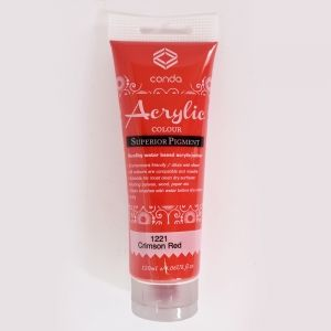 Acrylic paint 120ml - crimson red A1221