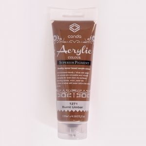Acrylic paint 120ml - burnt umber A1271-1