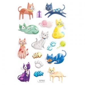 3D Stickers 16 pcs - Cats DPNP-011