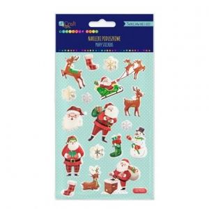 3D Stickers 17 pcs - Santa's DPNP-012