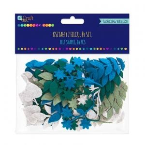 Felt shapes - Leaves, 84 pcs KSFI-279