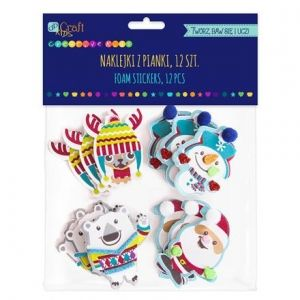 Foam stickers 12pcs - Christmas friends KSPI-406