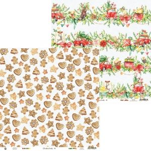 "Double-sided scrapbook paper 12""x12"" - Christmas Treats 02 P13-CHT-02"