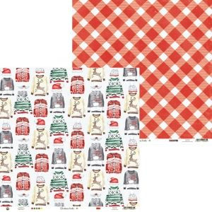 "Double-sided scrapbook paper 12""x12"" - Christmas Treats 04 P13-CHT-04"
