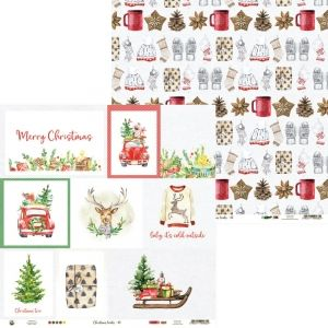 "Double-sided scrapbook paper 12""x12"" - Christmas Treats 05 P13-CHT-05"