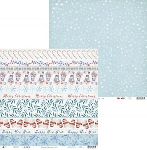 "Double-sided scrapbook paper 12""x12"" - North Pole 04 P13-188"