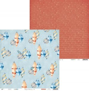 "Double-sided scrapbook paper 12""x12"" - North Pole 06 P13-190"