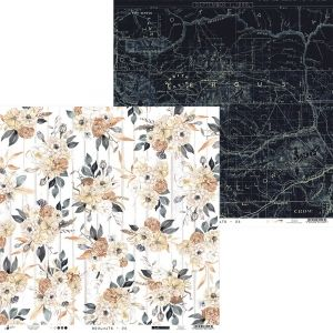 "Double-sided scrapbook paper 12""x12"" - Soulmate 02 P13-MAT-02"