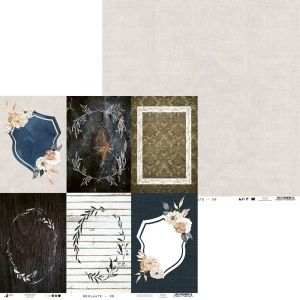 "Double-sided scrapbook paper 12""x12"" - Soulmate 06 P13-MAT-06"