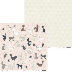 "Double-sided scrapbook paper 12""x12"" - We are family 02 P13-FAM-02"
