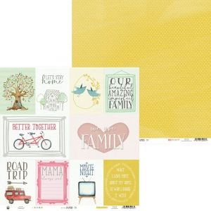 "Double-sided scrapbook paper 12""x12"" - We are family 05 P13-FAM-05"