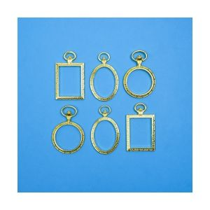 Charms Frames Gold, 6 pieces, IFRAGO