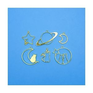 Charms Moon&Cat, 6 pieces, IMOON