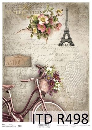 Decoupage Rice Paper A4 - Eiffel Tower ITD-R498