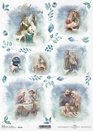 Decoupage Rice Paper A4 - Holy Family ITD-R1626