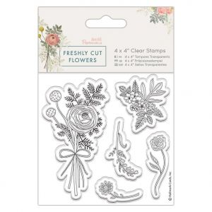 "Acrylic stamp 4""x4"" - Freshly Cut Flowers - Posey PMA-907266"