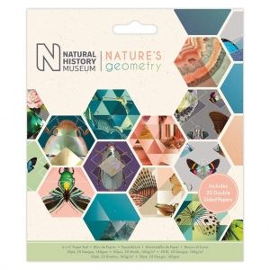 Paper pad 6x6in, 50 sheets - Nature's Geometry PMA-160409