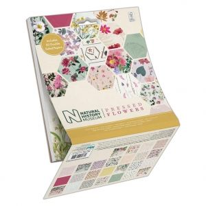 Paper pad 6x6in, 50 sheets - Pressed Flowers PMA-160413