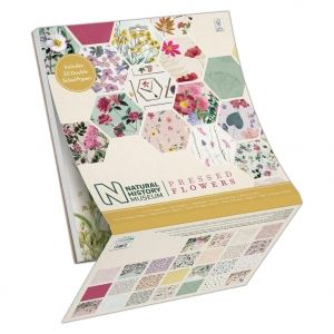 Paper pad 12x12in, 50 sheets - Pressed Flowers PMA-160412