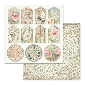"Double face scrap paper 12""x12"" - Tag house of roses SBB677"