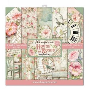 "Paper pad 12""x12""cm - House of roses SBBL66"