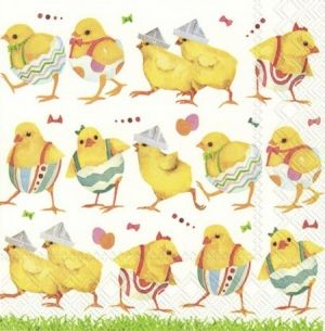 Decoupage napkins 33x33cm, 20 pcs. - CHICKS ON CATWALK L855300