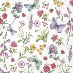 Decoupage napkins 33x33cm, 20 pcs. - SUMMER FLOWERS L846690