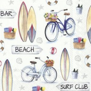Decoupage napkins 33x33cm, 20 pcs. - SURF CLUB L870800