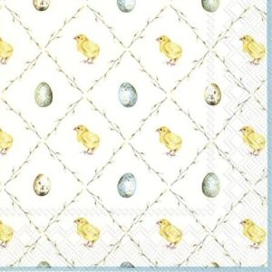Decoupage napkins 33x33cm, 20 pcs. - EASTER SQUARE L847800