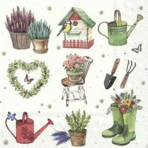 Decoupage napkins 33x33cm, 20 pcs. - GARDEN FEELINGS L869300