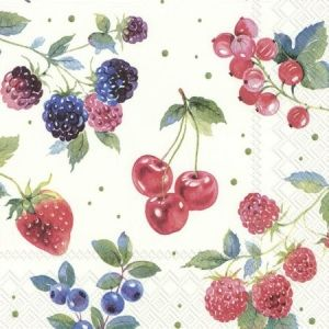 Decoupage napkins 33x33cm, 20 pcs. - RED SUMMER FRUITS L854300